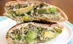 Avocado and Parmesan Pita Sandwich