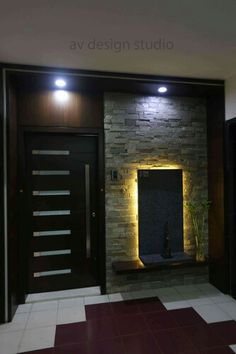 Pooja room design home mandir lamps doors vastu idols for Main door design for flat