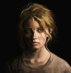 How I pictured feyre when the book begins,maybe with sunken cheeks because her lack of nutrition.