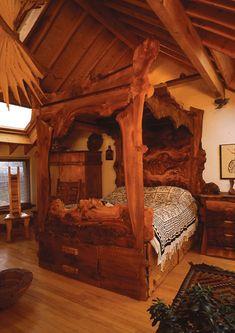 4 Poster Canopy Bedroom Sets | Furniture And Sculptures Burr Elm Canopy
