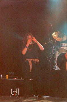 Gerard Quintana durant el concert a Vilablareix el 13 de maig del 2000