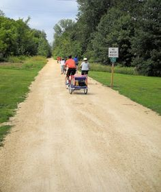 "Rail line converted to walking trail great for hiking in Amery, Wis., area. Read about this and nearby trails in ""Hittin' the Trail: Day Hiking Polk County, Wisconsin."""