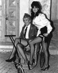 """theshrine on Twitter: """"These 2 changed my life as a kid... both so hot… """" Vicki Michelle, British Comedy, Change My Life, The Good Old Days, Long Legs, Lesbian, Movie Tv, Kimono, Wonder Woman"""