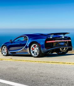 Outrageous is the only way to describe the Bugatti Veyron. The fastest production car in the world with a top speed of New Sports Cars, Super Sport Cars, My Dream Car, Dream Cars, Bugatti Cars, Bugatti Chiron, Supercars, Cars And Coffee, Performance Cars