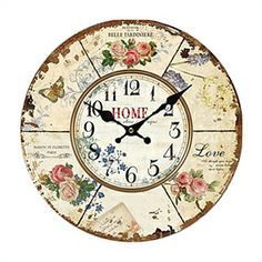 Decorative Clocks - Country Style Wall Clock - Euro Country Wall Clock Rustic Wall Clocks, Rustic Walls, Wall Clock Online, Clock Decor, Guest Bedrooms, Buying Wholesale, Art Education, Vintage Ads, Country Style