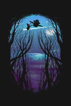 Una toma asi para el momento en que se encuentran en el bosque. Q se vea la silueta de Lena acercandose a Saul