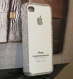 Apple iphone case Crystal iPhone 5 case Bling Bling iPhone 4s case iPhone 4 cover Back case Simple Fashion iPhone cover Handmade iPhone5. $18.70, via Etsy.