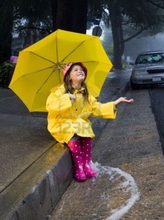 Google Image Result for http://us.123rf.com/400wm/400/400/armadillostock/armadillostock1007/armadillostock100700006/7734218-young-girl-playing-in-the-rain-with-yellow-umbrella.jpg