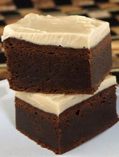 Fudgy Kahlua Brownies with Browned Butter Icing