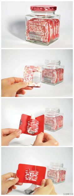 chinese wedding tea bag. This is cool #tea #packaging PD