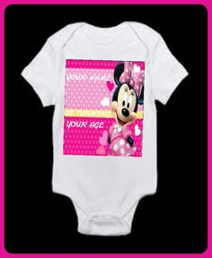 Minnie Mouse inspired personalized onsie and tutu set. Customized graphic allows you to include your little princesses name, age, dob or any other special message you like. Set comes with matching hair bow as well. | Shop this product here: http://spreesy.com/girlsjustwannahavfunbowtique/4 | Shop all of our products at http://spreesy.com/girlsjustwannahavfunbowtique    | Pinterest selling powered by Spreesy.com