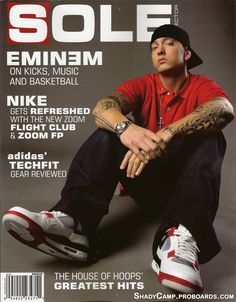 Happy Birthday Eminem: A Look Back at Slim Shady's Nike Kicks Fun Police, Eminem Rap, Eminem Photos, Eminem Slim Shady, Rapper Quotes, Celebrity Magazines, Nike Kicks, Hands In The Air, Rap God