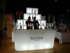 Luminous fernbedienung LED Theke, PolyDeco Bar, LED JUMBO Stehtisch, wiederaufladbare Rundbar LED Bartresen möbel