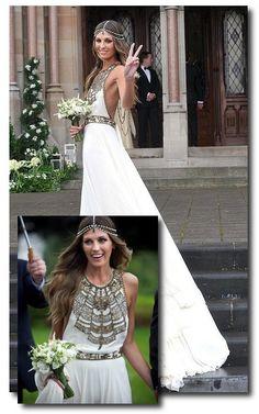 How To Get The Boho Bridal Looks Part 2 Gordon D'Arcy and Aoife Cogan's wedding – The Wedding Tiara