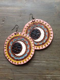 Round Moon Earrings by spiralDRIFT on Etsy, $65.00