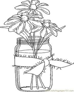 Coloring Books for Seniors Luxury Easy Coloring Pages for Seniors Easy Coloring Pages, Flower Coloring Pages, Printable Coloring Pages, Free Coloring, Coloring Sheets, Coloring Books, Embroidery Patterns, Hand Embroidery, Colored Mason Jars