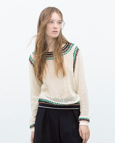 ZARA - NEW THIS WEEK - EMBROIDERED SWEATER