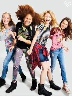 Justice is your one-stop-shop for the cutest & most on-trend styles in tween girls' clothing. Shop Justice for the best tween fashions in a variety of sizes. Cute Teen Outfits, Teenage Girl Outfits, Teenager Outfits, Teen Fashion Outfits, Outfits For Teens, Summer Outfits, Preteen Girls Fashion, Office Fashion Women, Tween Girls