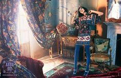 Anna Sui Fall/ Winter 2014 Campaign - Janice Alida by Laurie Bartley