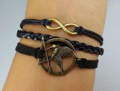 --★--★--   ITEM DETAILS   --★--★--   Infinity Wish Bracelet, Mocking Bird Bracelet, Hunger games Bracelet, Friendship Personalized Charm Bracelet.  $5