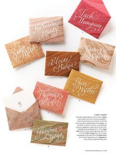 Calligraphy by Nancy Hopkins | Martha Stewart Weddings
