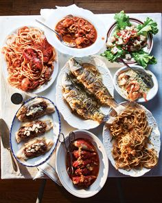 Celebrated by Italian-American families across the U.S., the Feast of Seven Fishes commemorates the wait for the midnight birth of Jesus, or the Vigilia di Natale. This year, start your own family tradition with these festive, Italian-inflected seafood recipes, from lobster fra diavolo (spicy lobster with pasta in tomato sauce) to sauteed sole topped with olives.