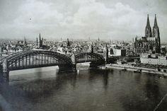 um 1962 Köln - Hohenzollernbrücke und Kölner Dom  ☺