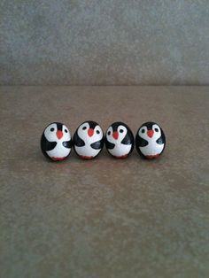 Penguin Studs by SoulJules on Etsy, $6.00