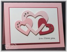 valentine card ideas | would so do the hearts on a scrapbook page
