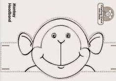 Resultado de imagem para molde de macaco fantoche