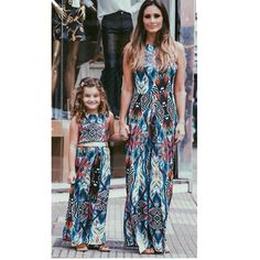 Mother Daughter Party Maxi Dress. Matching Family OutfitsMatching ClothesSun  DressesFloral DressesBaby Girl ... 1d8ead772daf