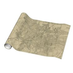 Vintage Map of Downtown Houston (1913) Wrapping Paper $16.95