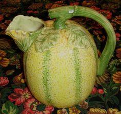 melon pitcher - Majolica