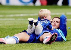 Father and Son - Eden Hazard and Yanis Hazard