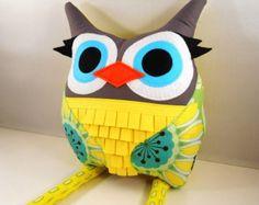 owl Plush doll Toy Softie Stuffed Animal for Baby by karensagez