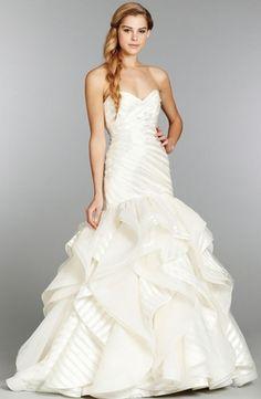 Hayley Paige - Sweetheart Mermaid Gown in Organza