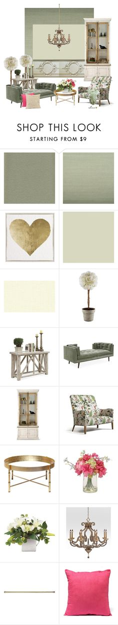 """""""Interior"""" by lenadecor ❤ liked on Polyvore featuring interior, interiors, interior design, home, home decor, interior decorating, York Wallcoverings, Ballard Designs, Oliver Gal Artist Co. and Riverside Furniture"""