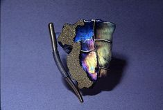 Brooch by Harold O'Connor - gold, oxidized silver