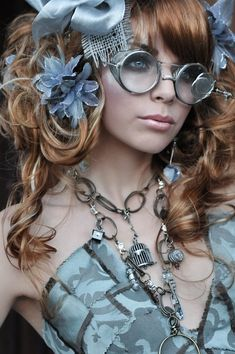 Blue - Photography. Steampunk - Portrait #SteamPUNK ☮k☮