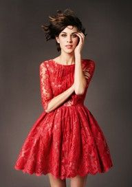 more Alexa Chung (red lace dress, style)- holiday dress Beauty And Fashion, Passion For Fashion, Pretty Dresses, Beautiful Dresses, Gorgeous Dress, Romantic Dresses, Romantic Lace, Kleidung Design, Costume