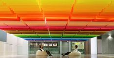 Colorful-Floating-Rainbow-Created-with-840-Sheets-of-Paper-feel-desain