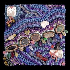 improvisational bead embroidery by Robin Atkins
