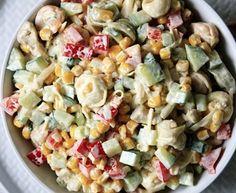 Sałatka z makaronem tortellini i kurczakiem Tortellini, Pasta Salad, Potato Salad, Potatoes, Ethnic Recipes, Food, Crab Pasta Salad, Potato, Essen