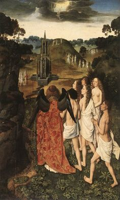 Dieric Bouts - The Way to Paradise. 1450