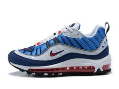 16bf61772c Nike Air Max 98 Gundam 2018 Ah6799 100 White University Red-Obsidian Shoe  Cheap Sneakers