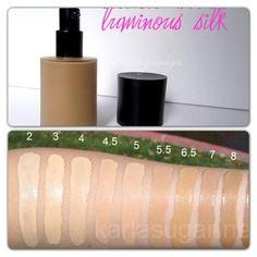 GiorgioArmani Luminous Silk Foundation Swatches (*5.5 Summer Shade) Armani Cosmetics, Beauty Must Haves, Bridesmaid Flowers, Giorgio Armani, Swatch, Makeup, Dress Shoes, Shoes Heels, Make Up