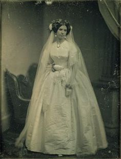 Wedding Styles Victorian Wedding Dresses: 27 Stunning Vintage Photographs of Brides Before 1900 ~ vintage everyday Vintage Wedding Photos, Photo Vintage, Vintage Bridal, Vintage Weddings, Country Weddings, Lace Weddings, Vintage Country, Wedding Attire, Wedding Bride