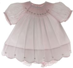 Feltman Brothers Girls Pink Smocked Bishop Dress & Diaper Panty Set - Hiccups Childrens Boutique