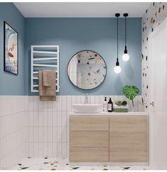 Bathroom Inspiration, Bathroom Ideas, Boat Decor, Double Vanity, Interior Decorating, New Homes, Home And Garden, Shower, Beach House