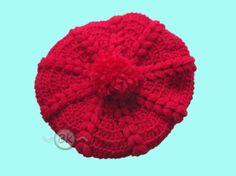 #basco #hat #uncinetto #crochet   http://berenikehobby.blogspot.it/2013/12/mini-basco-fragoloso.html